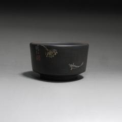 建水紫陶柴烧哑光主人杯50cc【明仁】建水民间艺人正品紫陶杯