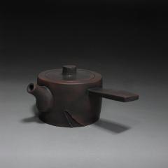 建水紫陶 横把树桩壶200cc【杨康作品】建水紫陶壶