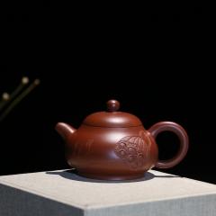 玉乳180cc-铭文:荷塘月色 原矿大红袍【朱大伟作品】宜兴名家正品紫砂壶