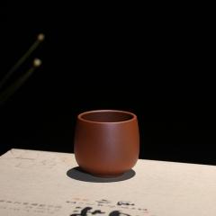 紫砂杯80cc  原矿朱泥【民间艺人作品】宜兴正品紫砂杯