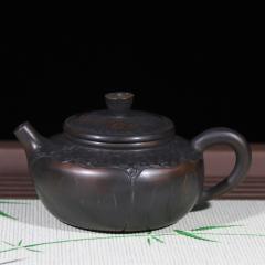 锤纹壶210cc【菩提朱作品】建水紫陶壶