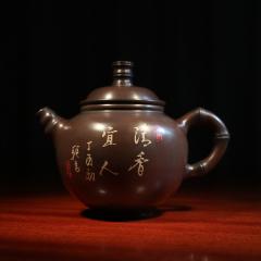建水紫陶 竹节壶300cc【李联昌、种玉作品】全手工作品
