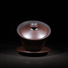 建水紫陶 盖碗300cc【曾维福】 全手工作品