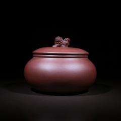 小茶罐200g 原矿紫泥【张世雨作品】宜兴精品紫砂罐