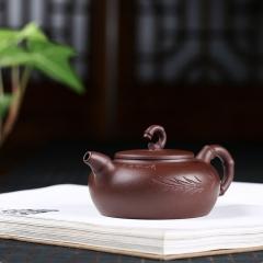 竹节壶200cc  原矿紫泥【签约工艺师作品】宜兴紫砂壶