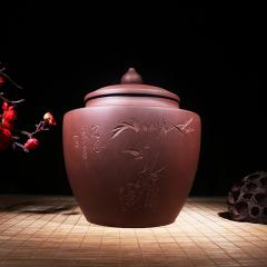 紫砂茶罐  原矿紫泥【实力匠人作品】宜兴紫砂罐