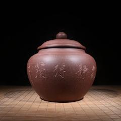 紫砂茶罐  原矿降坡泥【实力匠人作品】宜兴紫砂罐