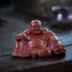 茶宠-弥勒佛  原矿大红袍泥【实力匠人作品】宜兴精品茶宠