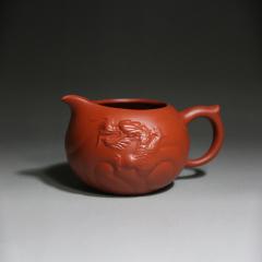 鱼化龙公道杯 350cc  原矿红泥【民间艺人作品】宜兴紫砂茶具