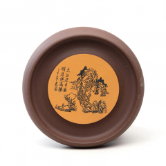 紫砂壶承-干泡台【民间艺人】原矿紫泥和清水泥