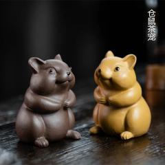 仓鼠茶宠【民间艺人】原矿紫泥和段泥