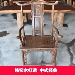 鸡翅木官帽椅 实木主椅 48*60*116*48
