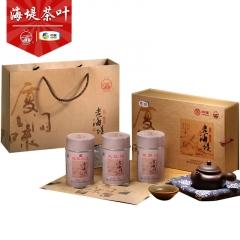 中茶 海堤茶叶 AT183 厦门味老海堤礼盒 大红袍 铁罗汉 老乌龙 225克