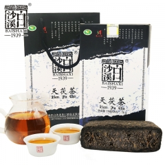 白沙溪 天伏茶 安化黑茶 一级料手筑天尖茯砖茶 1000克/盒
