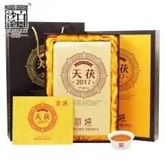 2019年白沙溪  天茯2017  安化优质黑毛茶  2017克/盒