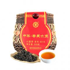 中茶六堡茶 8218箩装窖藏 梧州六堡茶 二级 500克/箩