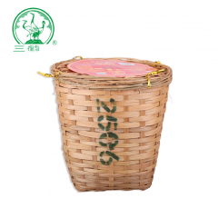 三鹤六堡茶 2506箩装六堡茶 广西六堡茶 二级 1000克/罐