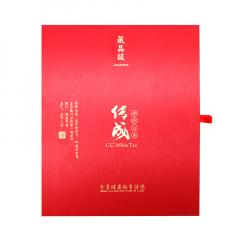 传成老树白茶 精美单饼装空礼盒 红色通用版