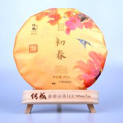 传成老树白茶9116(18) 初春 福鼎寿眉 300克 /饼
