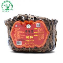 三鹤六堡茶 0616紧压茶竹篮装 广西六堡茶 500克/篮