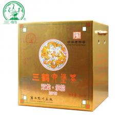三鹤六堡茶 双龙承韵2019  广西六堡茶 500克/盒