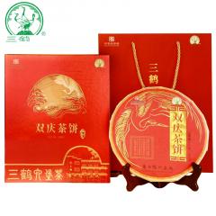 三鹤六堡茶 双庆茶饼礼盒 广西六堡茶 500克/盒