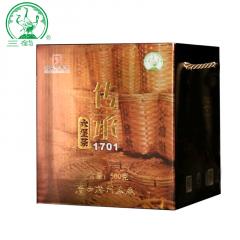 三鹤六堡茶 传承1701  广西六堡茶  500克/盒