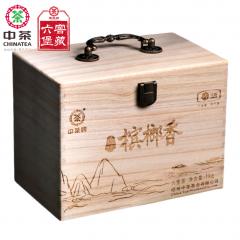 中茶六堡茶 原叶槟榔香 梧州六堡茶 木盒装 1000克/盒